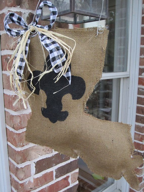 Geaux Saints!!!!  Can't wait to do this for the front door.