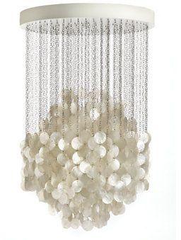 Hydrangea in a rain shower...wonder what it looks like when lit? Fun 4 Pendant Design Within Reach.