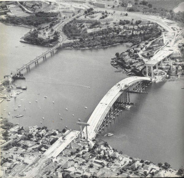 Old and New. Gladesville Bridges. x OzRoads