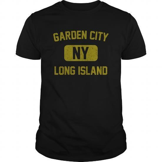Garden City Long Island NY Distressed Print Retro Phys Ed Gold Print