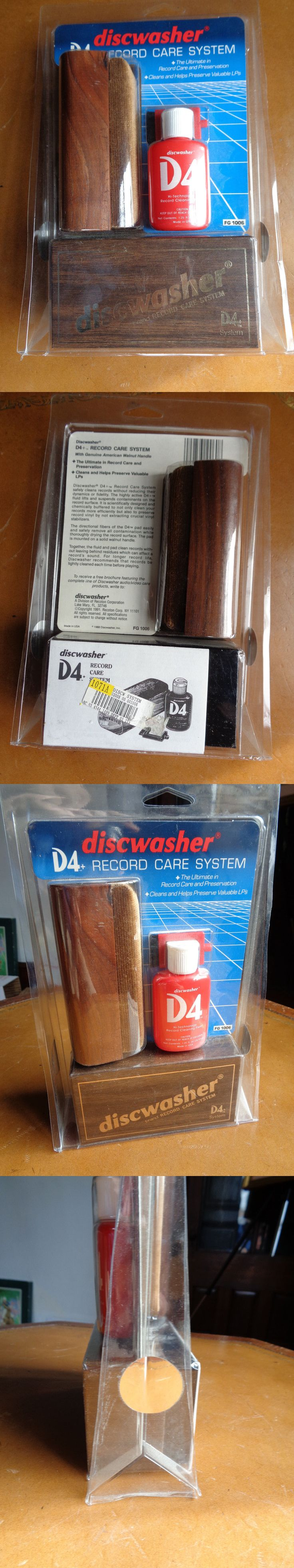 Vinyl Record Cleaning: Vintage Discwasher Disc Washer Vinyl Record Care Cleaning System D4 Brush Sealed BUY IT NOW ONLY: $75.0
