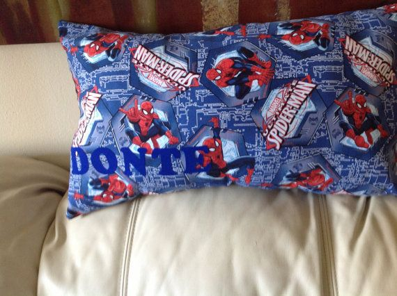 Friendlly Neighborhood Spiderman name Pillow by PrettyPlushPillows, $35.00