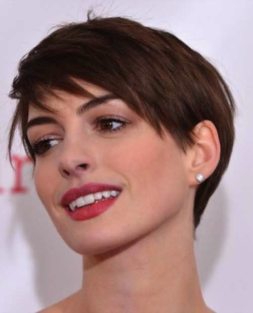 Blondie Prolonged Pixie Haircut with Fringes ecd90__Anne-Hathaway