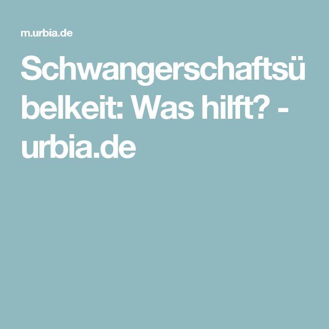 Schwangerschaftsübelkeit: Was hilft? - urbia.de