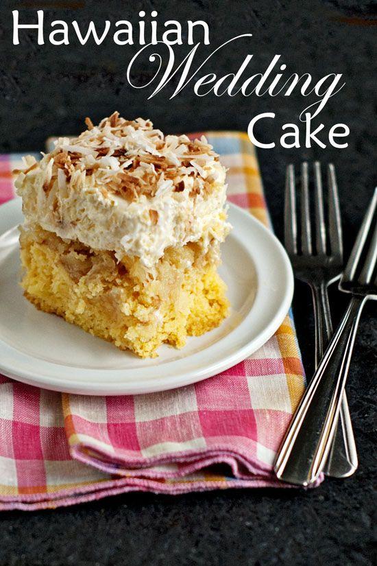 Hawaiian Wedding Cake. A great summer dessert  cold, creamy, and fruity!