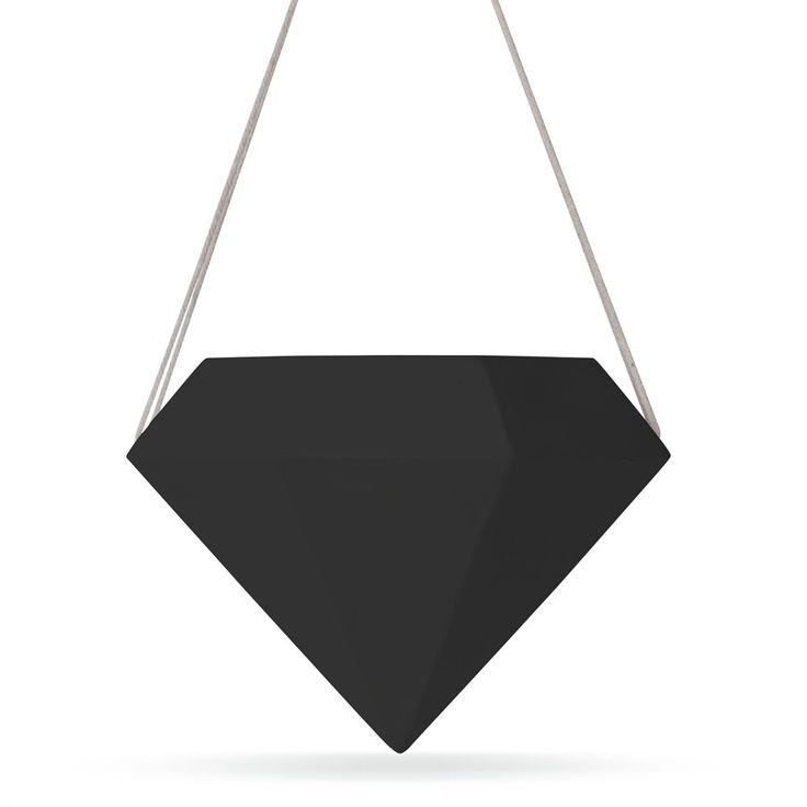 Black Geo Hanging Planter | New Arrivals | Homeware - Me and My Trend