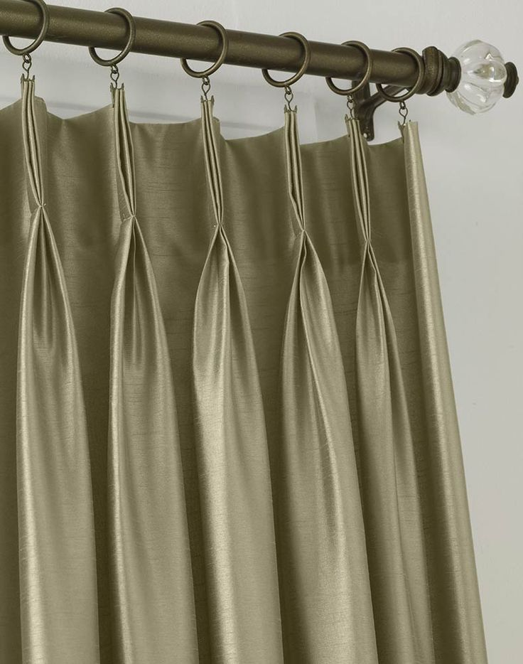 Faux Silk Pinch Pleat Drapery For The Living Room