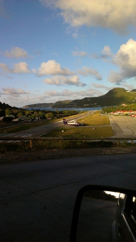 The petite airport in St. Jean, St. Barths #stbarth #airport