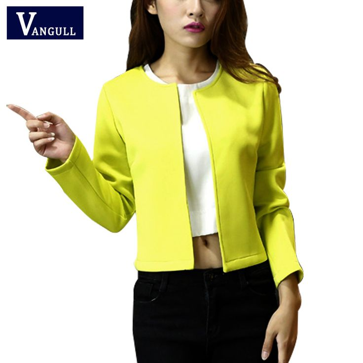 2016 Spring Autumn Style Office Blazer Feminino Fashion Short Women's Blaser basic jacket suit blazers casual Coat