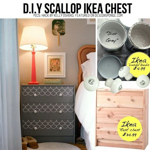 diy home decor ideas on a budget | $34 Ikea chest painted