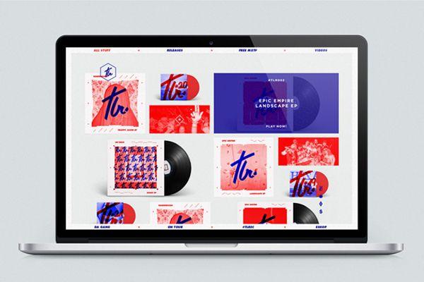 Tealer Records - Print & Webdesign System on Behance
