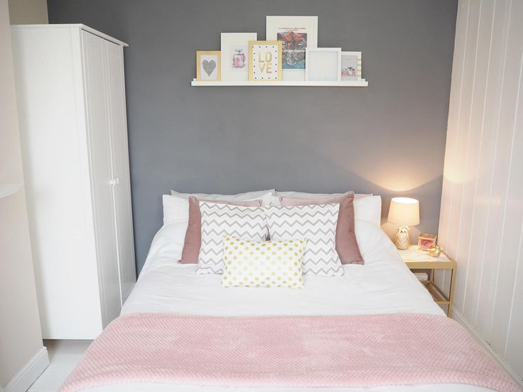 A Pink & Grey Bedroom makeover featuring Etsy, BHS, Wilko and IKEA. A nosey…