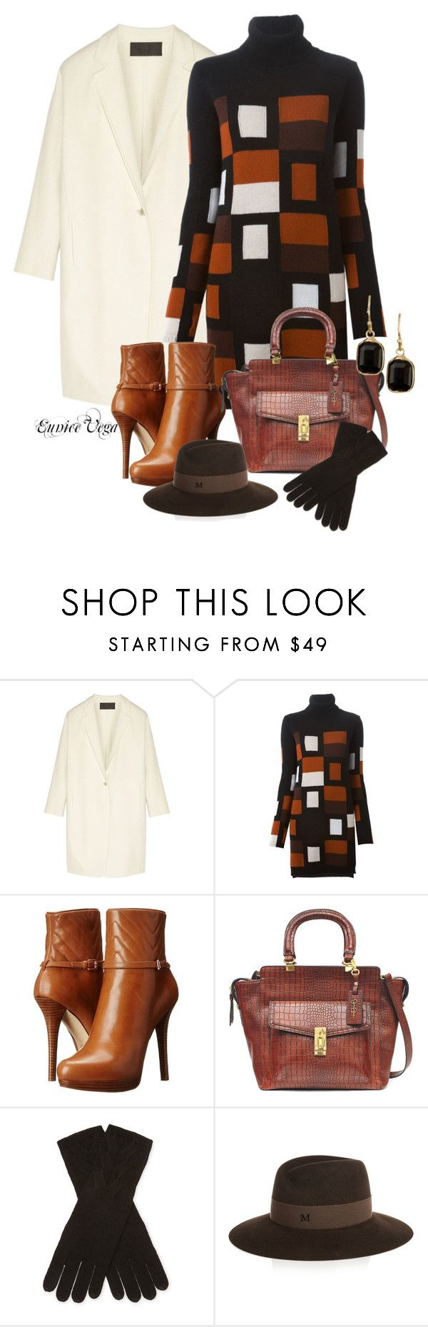 """WINTER STYLE:Sweater Dress"" by eunice-perez-de-vega ❤ liked on Polyvore featuring Donna Karan, Fendi, MICHAEL Michael Kors, Jessica Simpson, Qi Cashmere, Maison Michel and Nordstrom Rack"