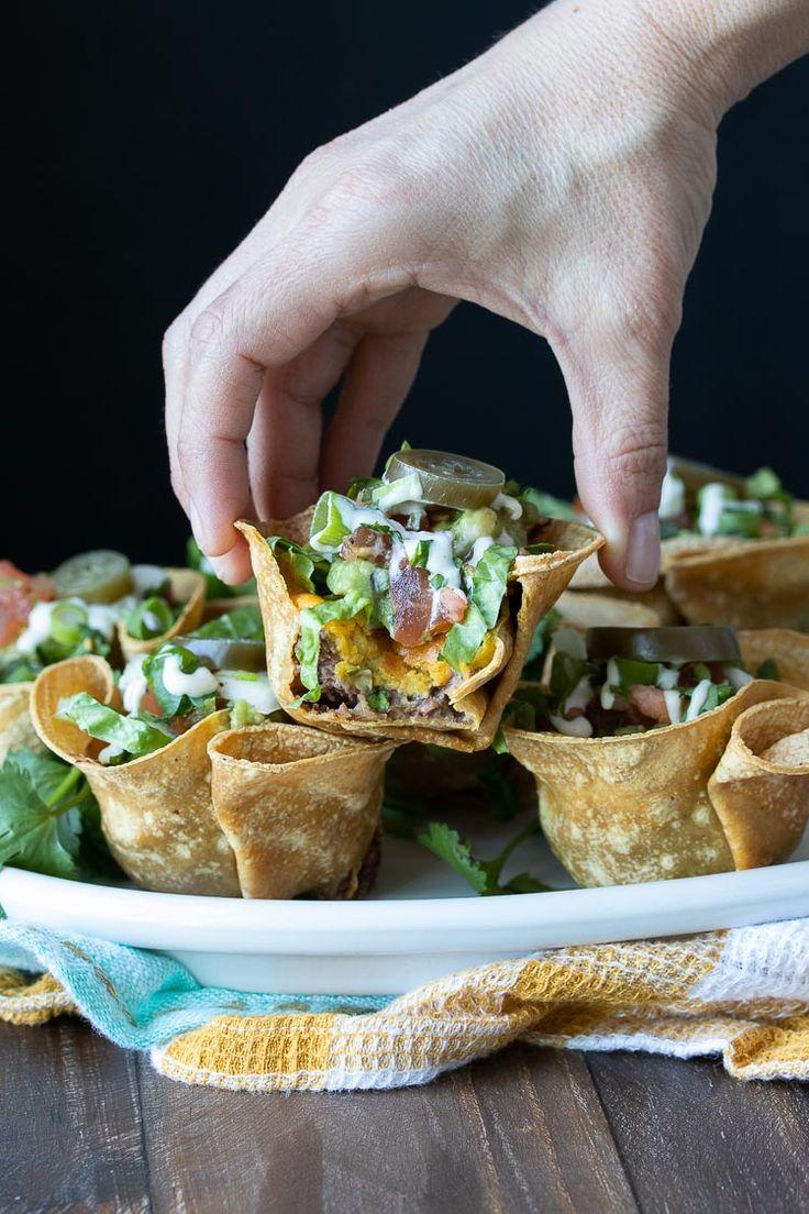Healthy Crunchy Vegan Taco Cups