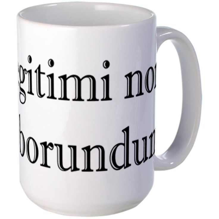 CafePress - Illegitimi non Carborundum Large Mug - Coffee Mug, Large 15 oz. White Coffee Cup -- Insider's special review you can't miss. Read more  : Coffee Mugs