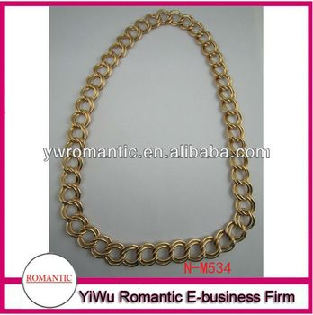 chunky gold plated chain necklace with no clasp