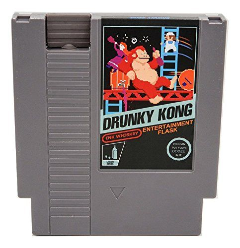 What better way to hide your drinking habit than with the NES cartridge flask.
