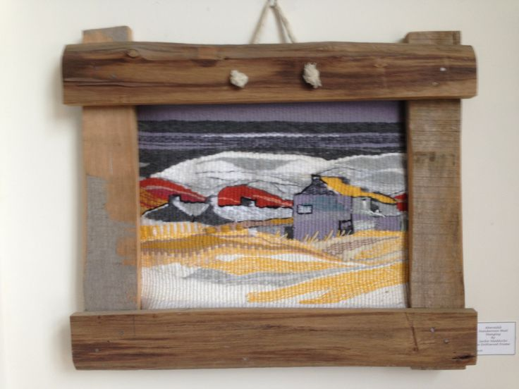 Abereiddy cottages wall hanging by Jackie Maddocks at Melin Trefin, Trefin, Pembrokeshire. www.melintrefin.co.uk