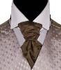 Scrunchie tie/cravat in gray for groom/groomsmen
