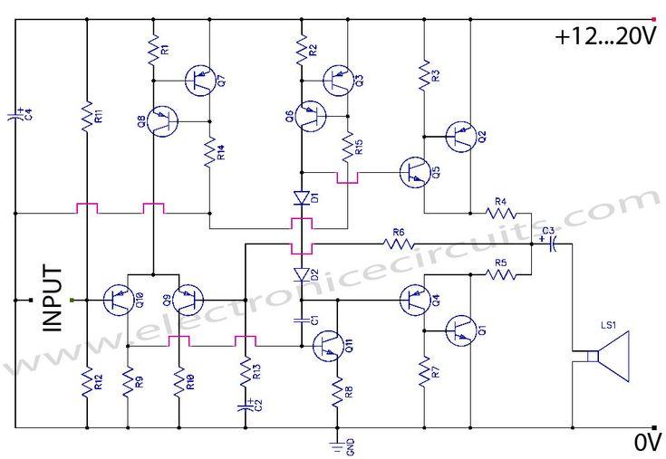 simple audio amplifier 2800w circuit diagram nonstopfree electronic
