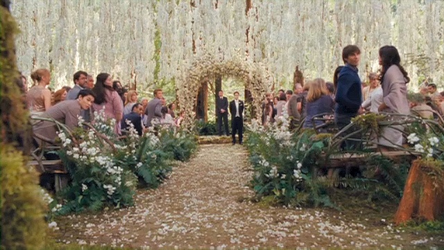 Yes, it's from the Twilight wedding, but I love the outdoor setting of this! The movie pulled what I imagined right outta my brain!
