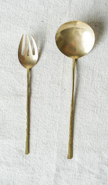 Hand-forged Brass Serving Set