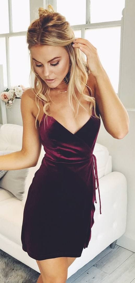 #spring #outfits This Wine Velvet 'Slip It On' Dress Is The Perfect Addition To Your Wardrobe!✨❤️