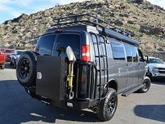 Chevy Express Van With Aluminess Bumpers Ladder And Roof Rack Deluxe Box Expediton Kit