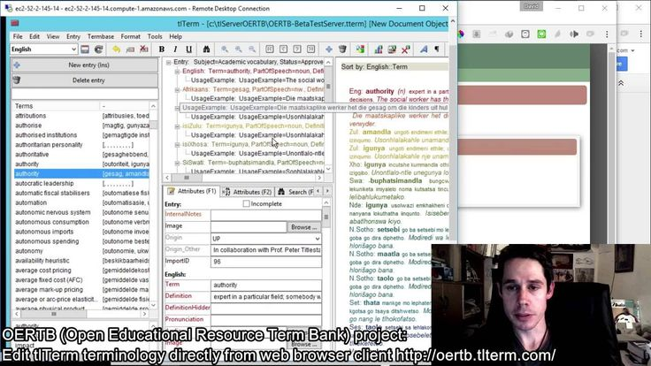 Demo: Editing tlTerm Terminology from both Web Browser and tlTerm