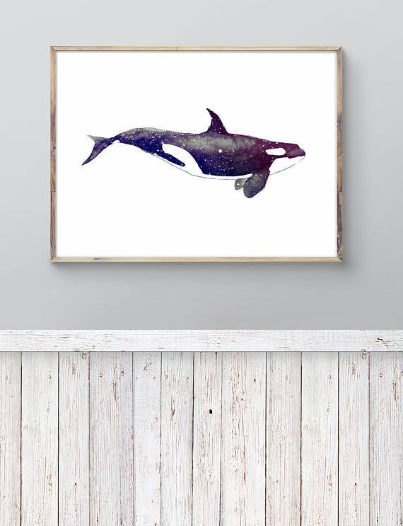 Whale Watercolor Whale Art Decor Whale Print Fishing by LadyWatercolor | Etsy #watercolor #whale #fishing #print #art #decor #paint #wild #biology #animal #marine #ocean