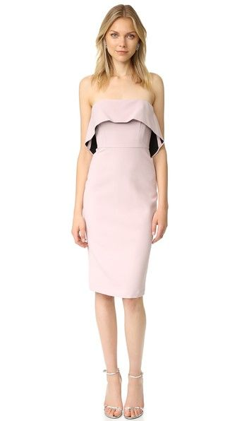 BCBGMAXAZRIA Strapless Ruffle Dress