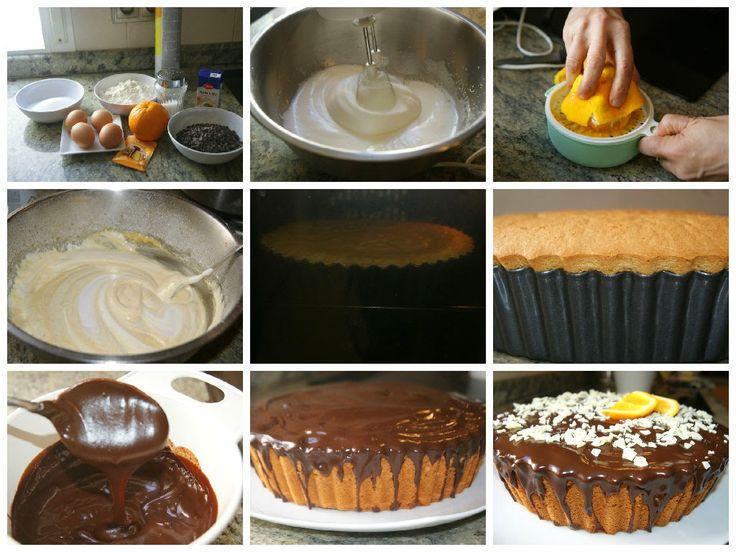 Anna recetas fáciles: Bizcocho de naranja y chocolate muy espnjoso