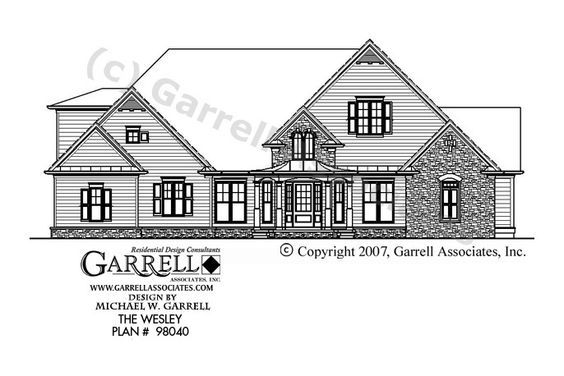Wesley House Plan 98040, Front Elevation, Traditional Style House Plans, Ranch Style House Plans