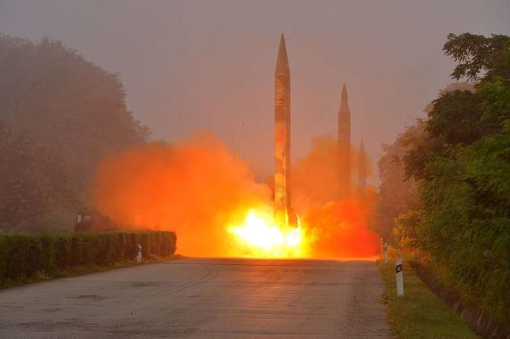 North Korea's rockets  -  July 10, 2017  -    HWASONG ARTILLERY UNITS  -   Ballistic rocket is seen launching during a drill by the Hwasong artillery units of the KPA Strategic Force, July 2016.