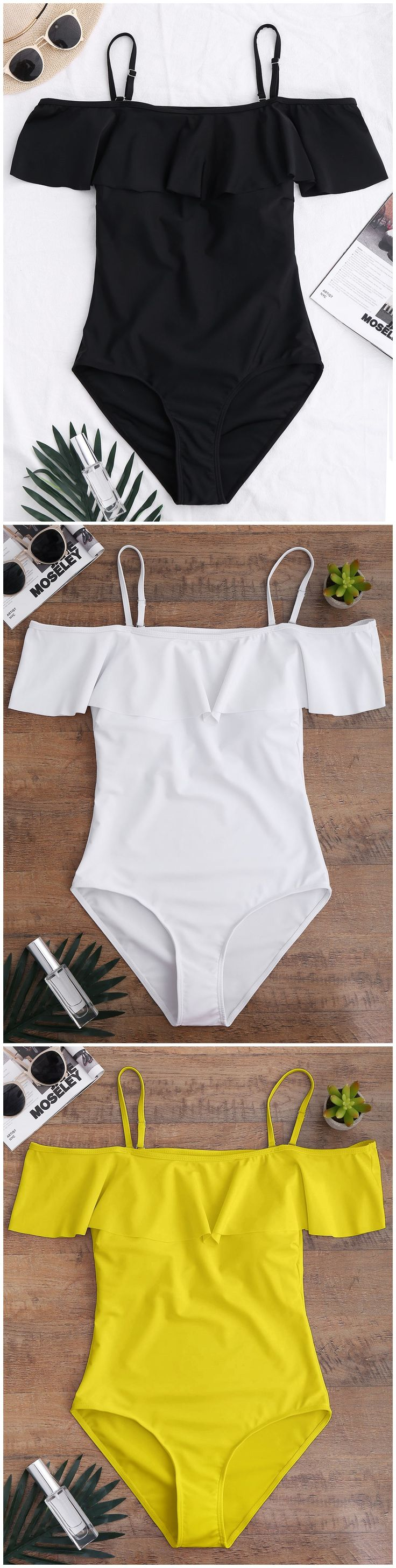 Up to 80% OFF! Off The Shoulder Flounced One-Piece Swimwear. #Zaful #Swimwear #Bikinis zaful,zaful outfits,zaful dresses,spring outfits,summer dresses,Valentine's Day,valentines day ideas,cute,casual,fashion,style,bathing suit,swimsuits,one pieces,swimwear,bikini set,bikini,one piece swimwear,beach outfit,swimwear cover ups,high waisted swimsuit,tankini,high cut one piece swimsuit,high waisted swimsuit,swimwear modest,swimsuit modest,cover ups @zafulbikini Extra 10% OFF Code:zafulbikini