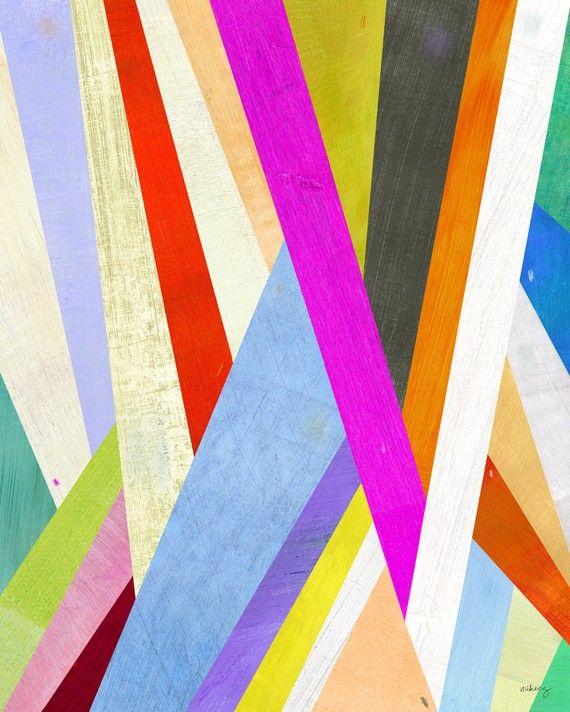 diagonal abstract art giclee print