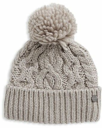 Grey Cable Knit Toque