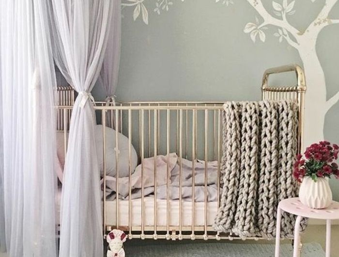 Babyzimmer Graustreifen. Kinderzimmer Gestalten Wandgestaltung