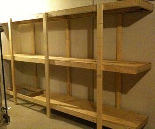 Build Easy Free Standing Shelving Unit For Basement or Garage