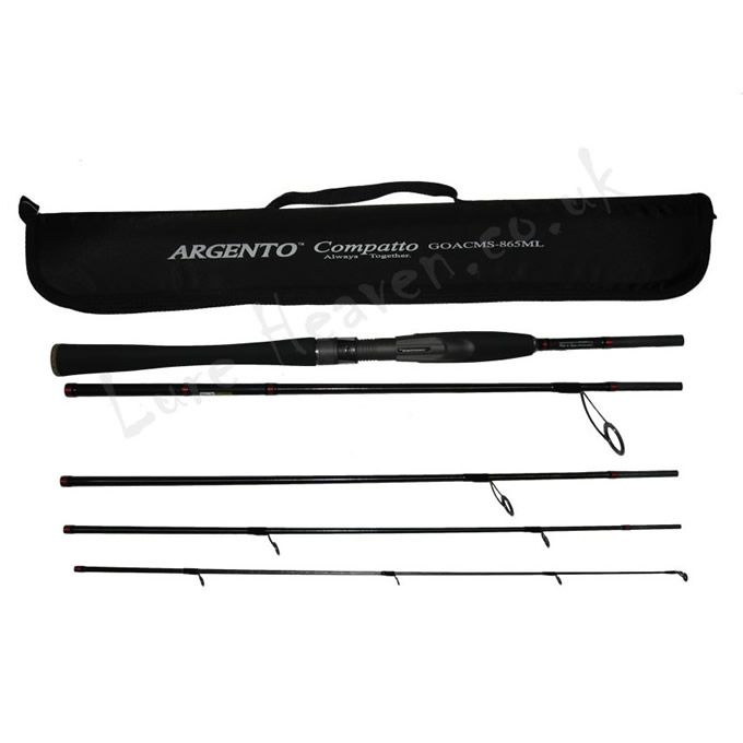 """Graphiteleader Argento Compatto 8'6"""" Sea Bass Travel Rod 