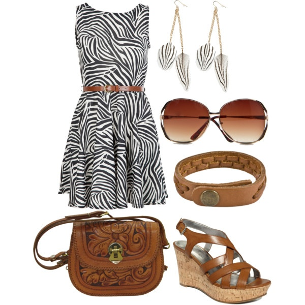 """Tan and Zebra"" by hvershure on Polyvore"