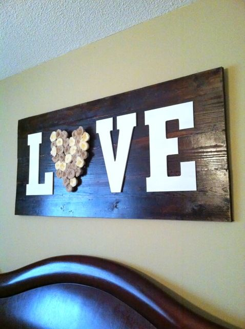 wood project wood love sign