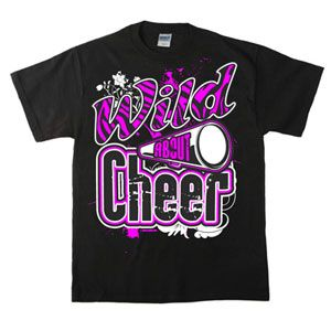 Wild About Cheer T-Shirt by Cheerleading Company