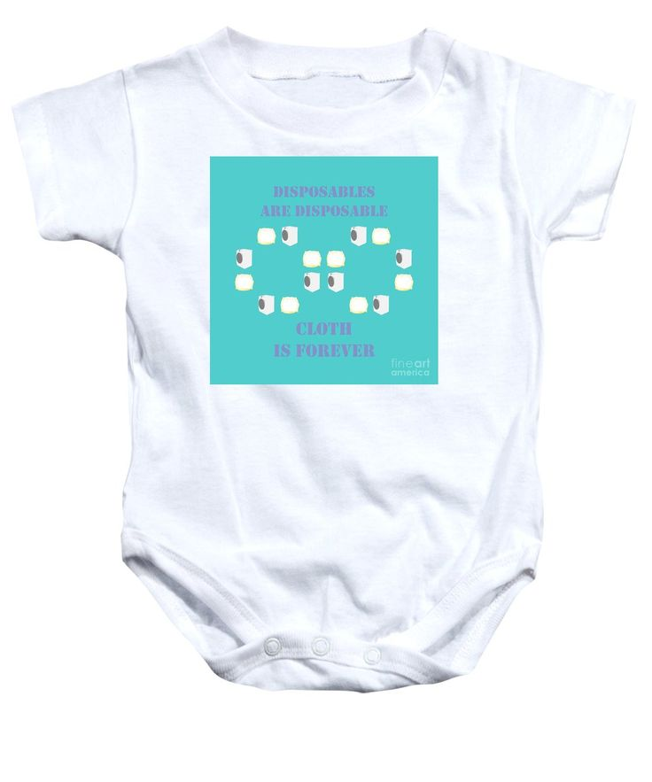 Cloth Diapers Baby Onesie featuring the mixed media Cloth Diapers Forever 5 by Sverre Andreas Fekjan