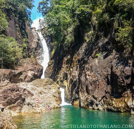Khlong Phlu Waterfall at Mu Koh Chang National Park - Koh Chang, Thailand <3