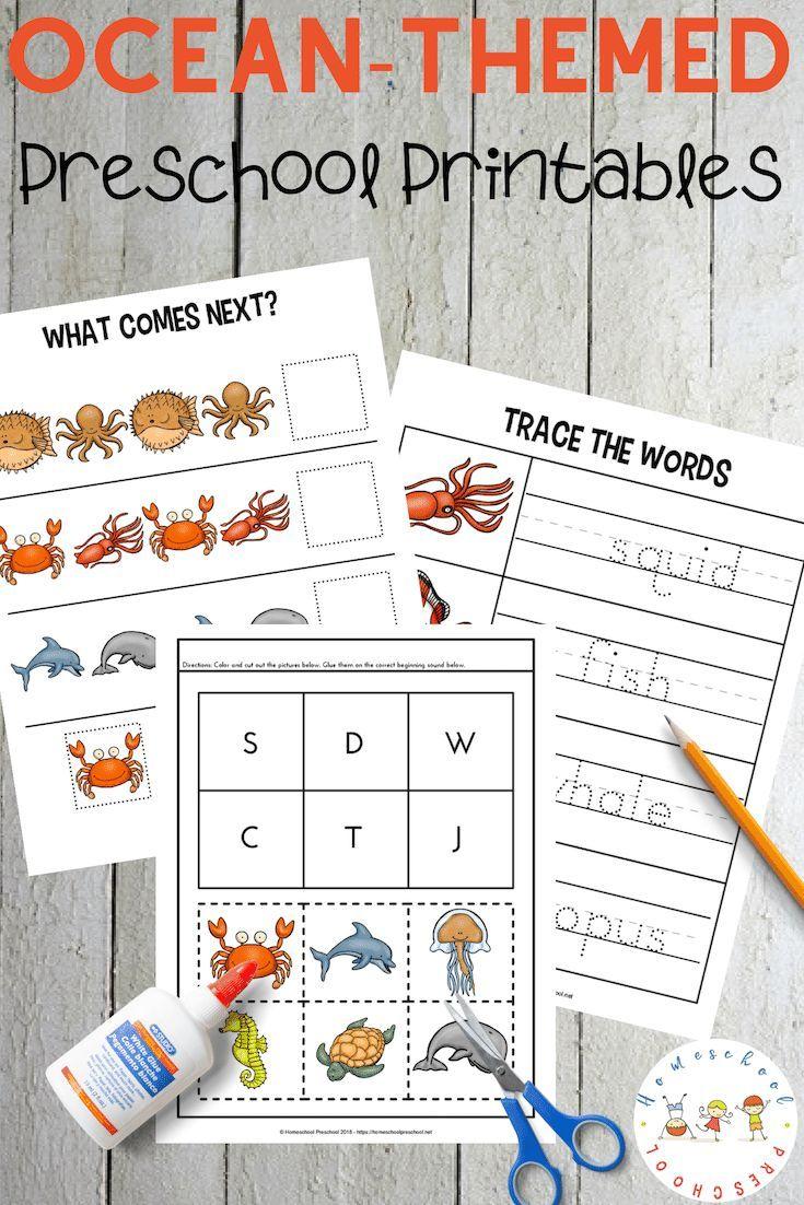 Free Printable Preschool Ocean Worksheets Free Preschool Printables Ocean Theme Preschool Preschool Themes [ 1102 x 735 Pixel ]