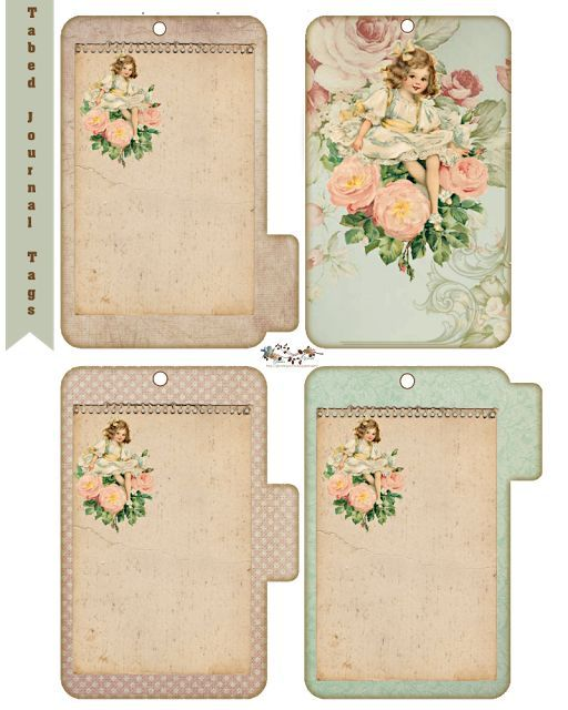 Free Tabed Journal Tags: