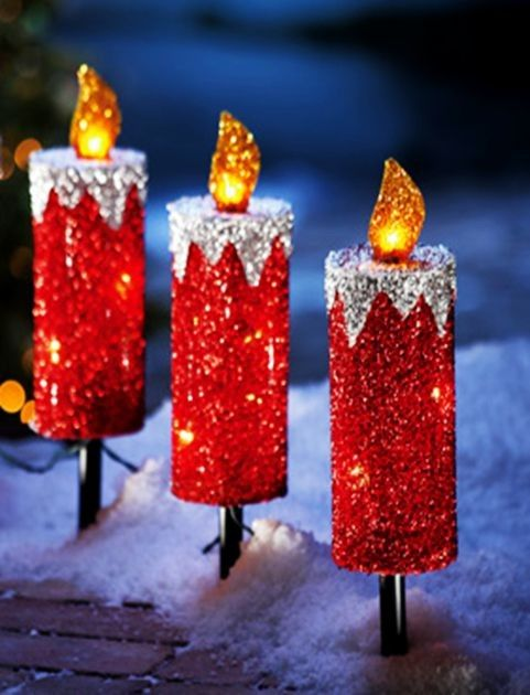 29 best 2014 christmas diy candle holder ideas images on for Outdoor christmas candles