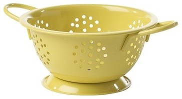 Colanders, Mini, Yellow - traditional - kitchen tools - West Elm