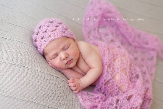 >> Click to Buy << CROCHET  Newborn Mohair Hat / Photography Prop Mohair blanket Hat Set  60CM * 70CM #Affiliate